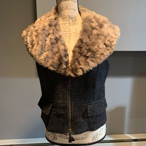 Juicy Couture Vest with Faux fur collar